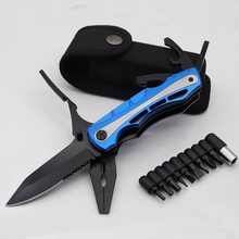 Folding Pliers Multitool Knife Pocket EDC Camping Outdoor Survival Hunting Screwdriver Set Camping Tool Multi Plier Hand Tools цены онлайн