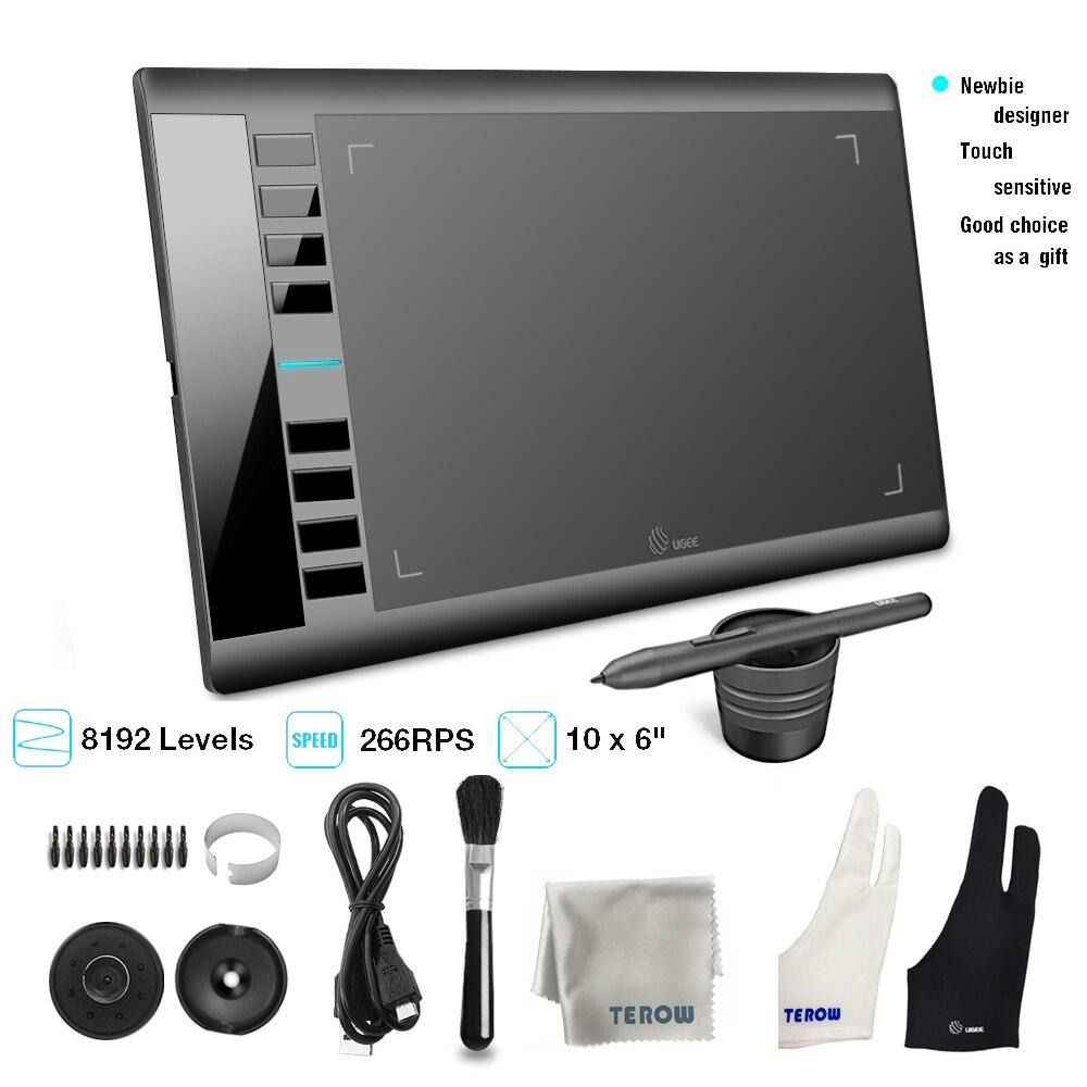 UGEE M708 V3 tablette graphique 8192 niveaux tablette de dessin numérique tablette graphique Active pour dessin outils de peinture enfants cadeaux