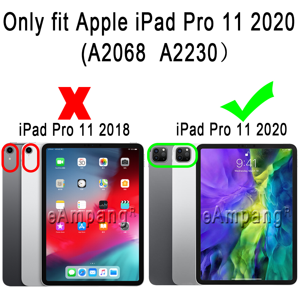 For iPad Pro 11 2020 Case Drop Resistance Soft Silicone Case for Apple iPad Pro 11