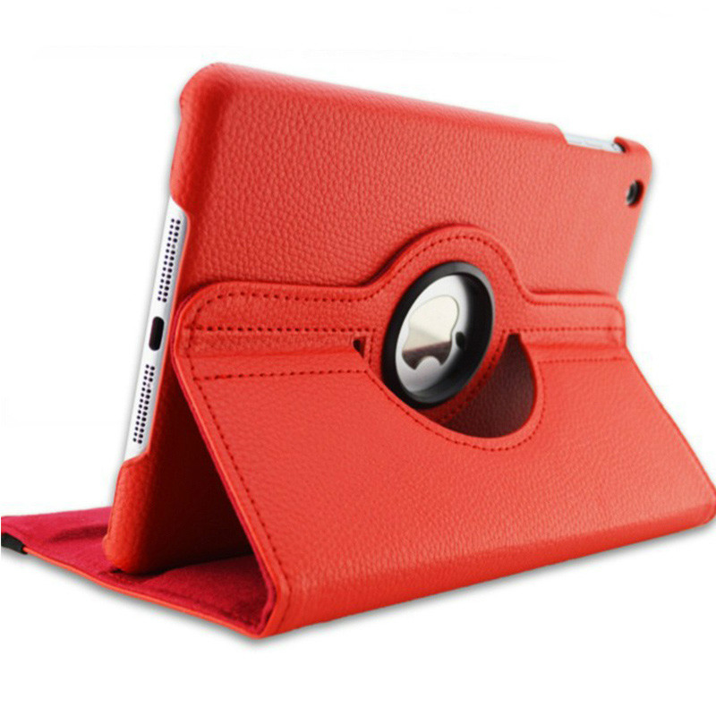 Red Red Case for Apple iPad pro 11 Case 2020 A2228 A2068 A2230 2nd 360 Degree Rotating Leather