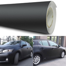OLOMM 12x60 Matte Black Vinyl Car Wrap Car Motorcycle Scooter DIY Styling Adhesive Film Sheet Stickers Vehicle Decal 3D protwraps black green brown camouflage vinyl motorcycle car vehicle scooter diy camo vinyl wrap with bubble free