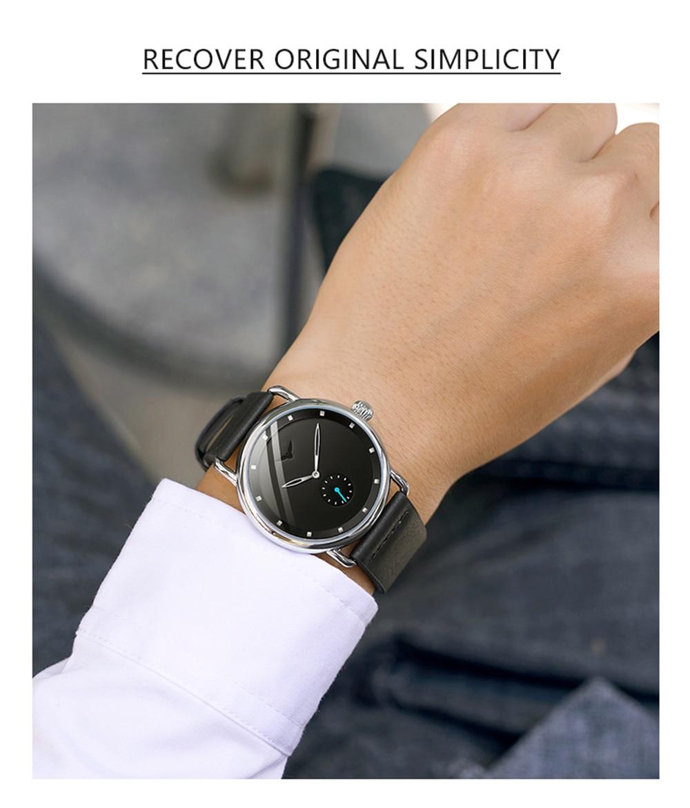 Hcfc0cc8724864f3a9d5458fd568431f6L ONOLA top brand leather men watches clock fashion sport simple casual waterproof Wrist watch men relogio masculino