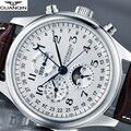 Часы GUANQIN мужские  автоматические  механические  водонепроницаемые  кожаные