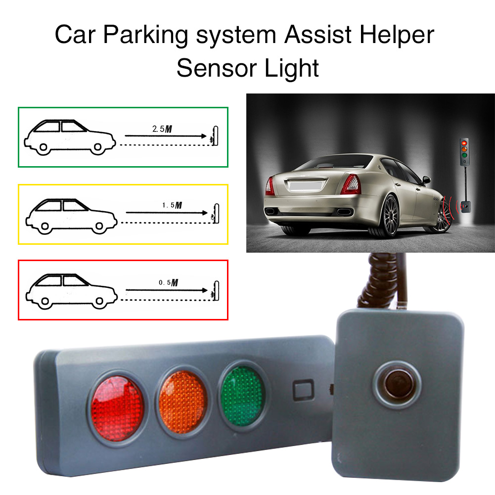 3Colors Stop Indicators Durable <font><b>Battery</b></font> Powered Led Home <font><b>Car</b></font> Parking Sensor System For Garage Assisting Automatic Position <font><b>Guide</b></font> image