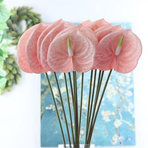 Искусственные цветы из антуриумной ветки, 3D печать для украшения дома, свадьбы, стола, пластиковые искусственные растения