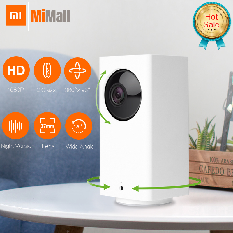 Original Xiaomi Mijia IP Camera Dafang Smart Monitor 120 Degree 1080p Smart Security WIFI Night Vision Camera For Mi Home App-in Surveillance Cameras from Security & Protection