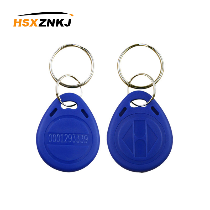 50PCS EM4100 TK4100 Chip Tag Card Sticker Key ID Key Ring 125KHz RFID Key Ring Token Ring