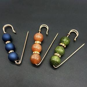 Image 3 - Strass robe à broches en perles colorées de décoration, broches de sécurité avec boucle, broches bijoux pour col de chemise, accessoires