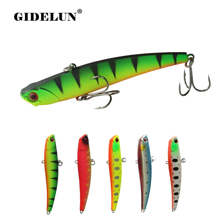GIDELUN 9.5cm 26g Sinking VIB Lure Fishing Tackle Hard Bait Pike Lure  Winter Ice Salt Fishing Sea Bass Artificial Bait