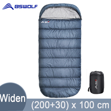 BSWolf  Large Camping Sleeping bag lightweight 3 season loose widen bag long size for Adult rest Hiking fishing