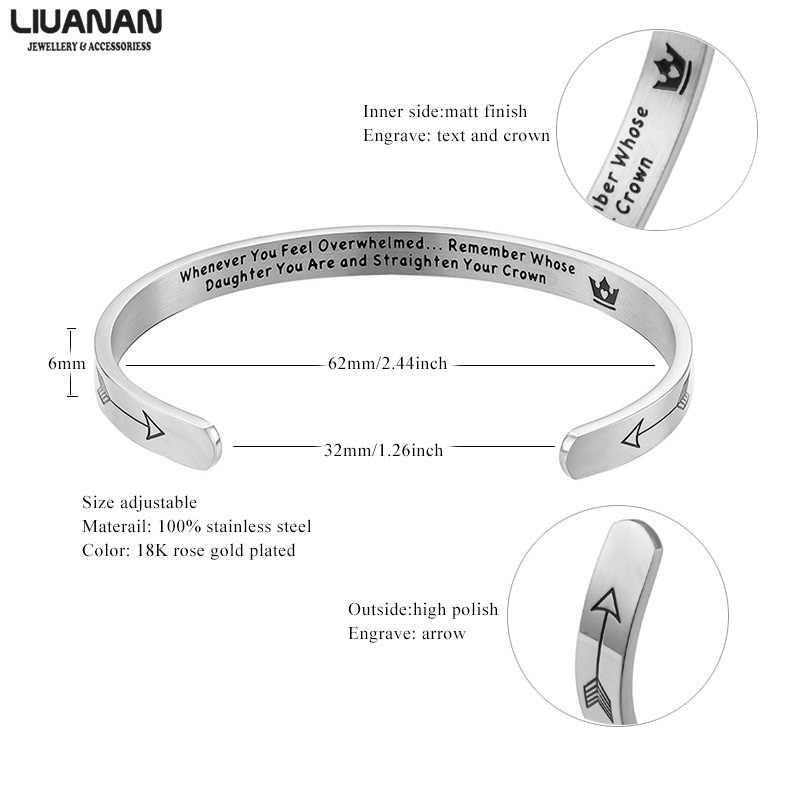 Verjaardag Afstuderen Gift Voor Dochter Armband Wanneer Je Voelt Overweldigd Rechte Uw Kroon Mantra Manchet Armband Voor