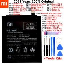 Оригинальный XiaoMi, запасная батарея, батарея для Xiaomi Mi Redmi Note Mix 2 3 3S 3X 4 4X 4A 4C 5 5A 5S 5X M5 6 6A 7 8 Pro Plus батареи