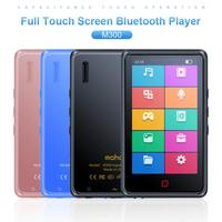 Portable Full Touch Screen Bluetooth MP3 Player Ultra thin FM Radio Video Player for Student