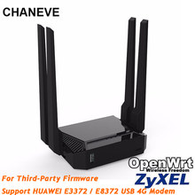 CHANEVE 300mbps wireless wifi router 802,11 n/g/b wi-fi router Unterstützt Keenetic Omni II firmware HUAWEI e3372H 4G usb modems(China)