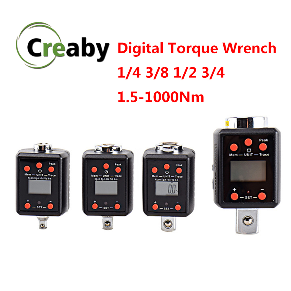"Torque Wrench Digital 1.5-1000N.m Squre Drive 1/4"" 3/8"" 1/2"" 3/4"" Mini Torque Adapter Electronic Digital Torque Meter"