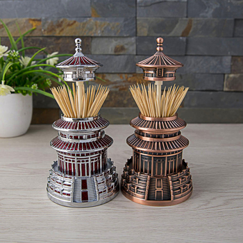 Toothpick Box Automatic Metal Toothpick Holder Box Table utensils Creative  Home Decor Crafts
