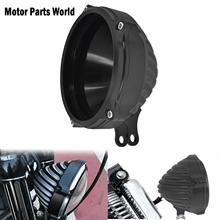 5.75 motosiklet CNC far kapağı alt montajlı yapılandırma kütük alüminyum Harley Dyna FXDB Softail Sportster XL