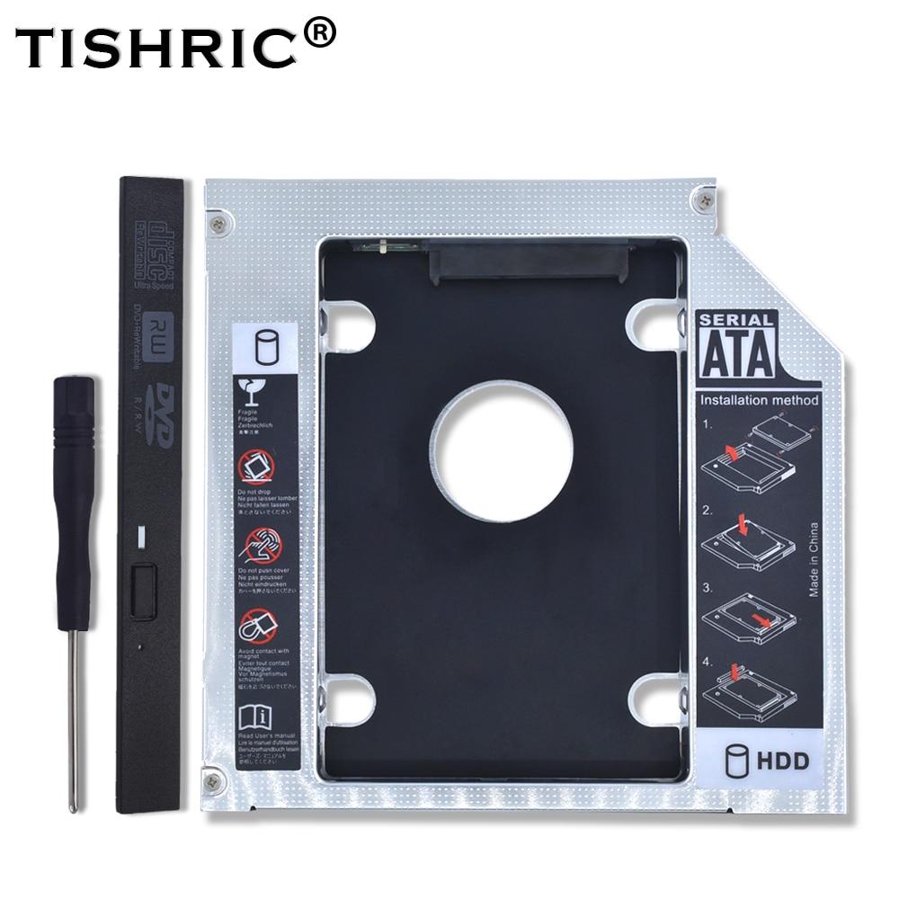 TISHRIC алюминиевый HDD Caddy 9,5 12,7 мм SATA 3,0 Optibay коробка для жесткого диска корпус DVD адаптер 2,5 SSD 2 ТБ для ноутбука CD ROM Корпус жесткого диска      АлиЭкспресс