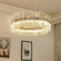 Fss Neue Moderne Kristall Chrom Gold Runde Rechteck Kronleuchter Beleuchtung Für Wohnzimmer Schlafzimmer Küche Insel Lustre LED Lampe