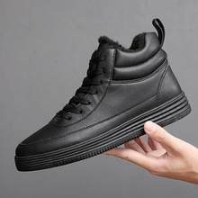 Winter 2020 Men's Casual Shoes Fashion Adult Men Flats Erkek Ayakkabi Adulto High Top Sneakers Brand Luxury Shoes with Fur 39-44