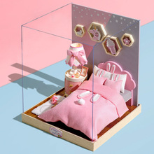 DIY Doll House Furnitures Miniature Dollhouse Dust Cover Wooden Dollhouse Light LED House For Dolls Handmade Toys For Children dust proof cover case for legend of the blue sea 13844 diy dollhouse 22 21 1cm acrylic