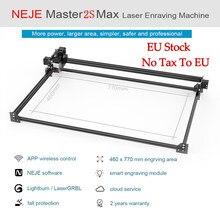Máquina de grabado láser profesional NEJE Master 2S Max, 2021x460mm, cortador láser, Lightburn, Bluetooth, Control por aplicación, 810