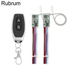 Rubrum 433mhz DC 3.6V 6V 12V 24V 1CH RF 릴레이 무선 RF 원격 제어 스위치 LED 램프 컨트롤러 마이크로 수신기 송신기