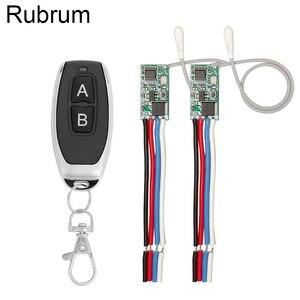 Rubrum 433mhz DC 3.6V 6V 12V 24V 1CH RF Relay Wireless RF Remote Control Switch LED Lamp Controller Micro Receiver Transmitter