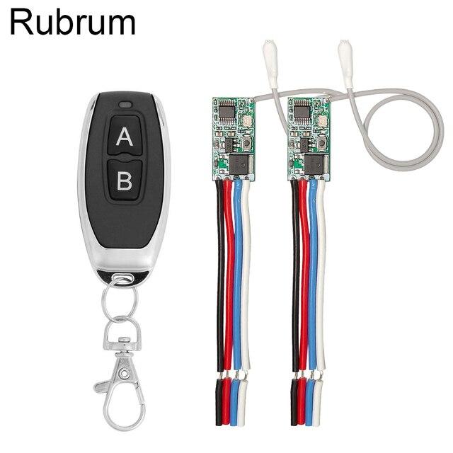 Rubrum 433mhz DC 3.6V 6V 12V 24V 1CH Relè RF Wireless RF Interruttore di Comando A Distanza controller di Lampada A LED Micro Ricevitore Trasmettitore