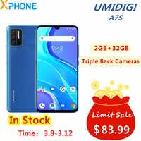 Umidigi-teléfono inteligente A7S, 2GB RAM, 32GB rom, cámaras traseras triples, batería de 4150mAh, pantalla de 6,53 pulgadas, Android 10, termómetro infrarrojo de red 4G