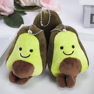 Plush-Toy Cushion Avocado Pillow-Bag Pendants Filled-Doll Keychain-Fruits Stuffed 12CM