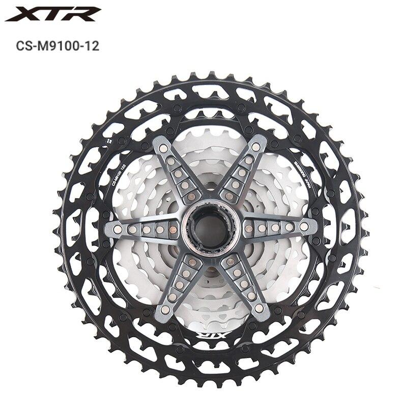 Shimano XTR CS M9100 Cassette Sprocket 12 Speed 10-51T MTB Bike Freewheel New MICRO SPLINE Freehub Body