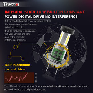 Image 5 - TXVSO8 2020 Led H7 Headlight 6000K White Light Lamp Universal COB Mini Car Bulbs 110W/set 26000LM Focos Led Automovil