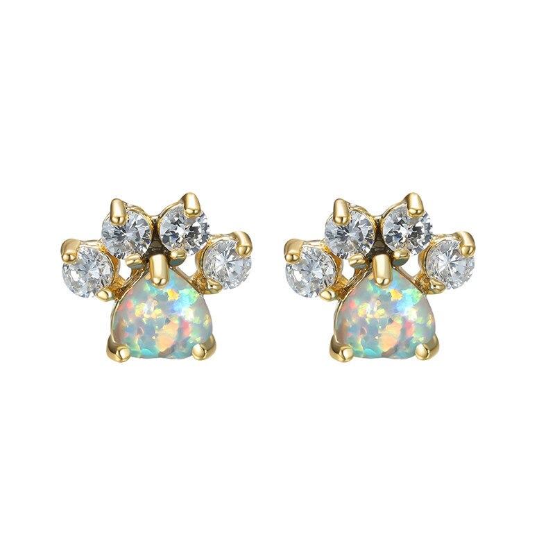 Gold White Opal