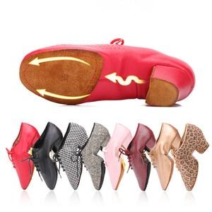 Image 1 - 2020 Latin Dance Shoes For Women Teachers Shoe Girls Ladies Leather Ballroom Waltz Tango Foxtrot Quick Step Dance Shoes BD