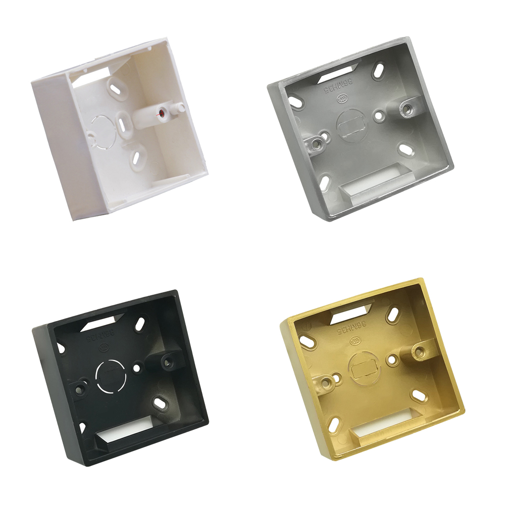 Socket Switch Type 86 Base Clothes Box Junction Box Wall Mount Switch Box Bottom Surface Mount Dark White