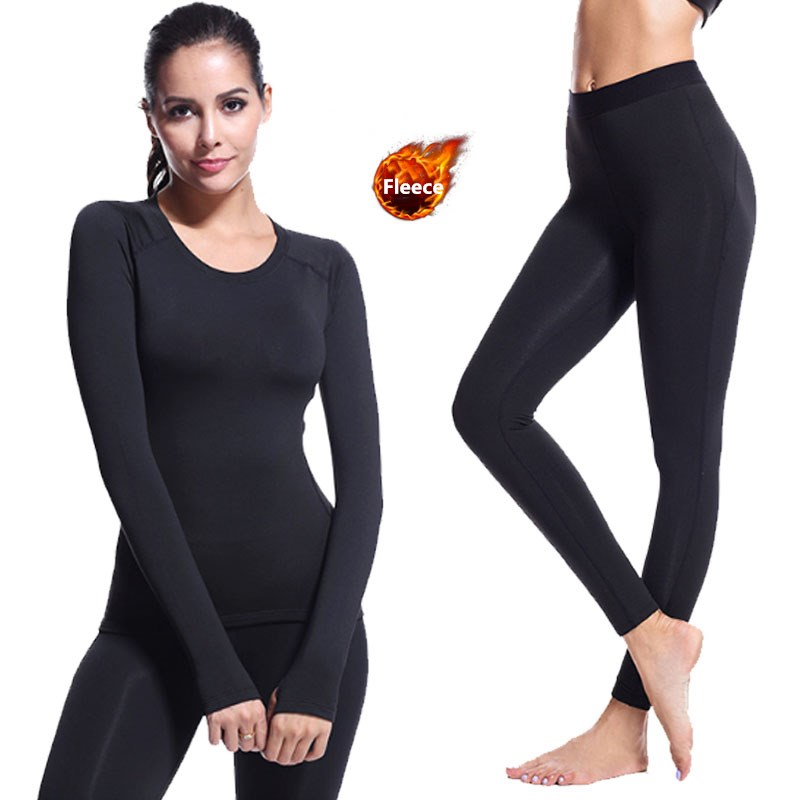 Fanceey Lace Shirt Thermal Underwear Women Seamless Long Johns Women Thermal Clothing Sexy Ladies Clothes Winter Thermal Suit