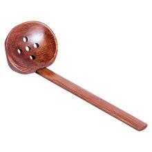 Японская деревянная ложка для рамен большая супа шлицевая семейного