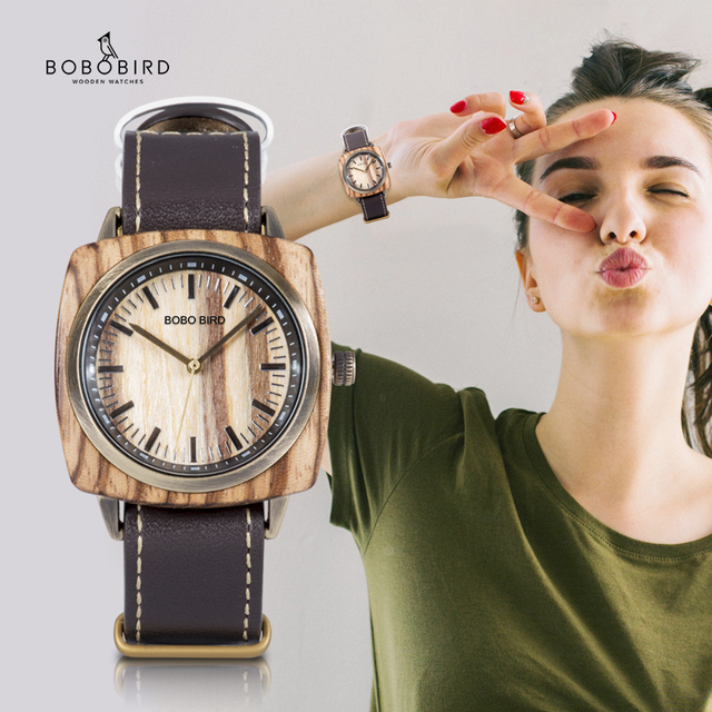 часы женские BOBO BIRD reloj mujer Women Watches Ladies Waterproof Quartz erkek kol saati Valentines Day Gift Dropshipping