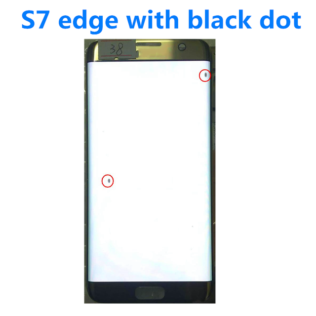 """Oryginalny 5.5 """"AMOLED do Samsung Galaxy S7 krawędzi lcd G935U G935F wyświetlacz Lcd ekran dotykowy digitalizacji z czarną kropką i linii"""