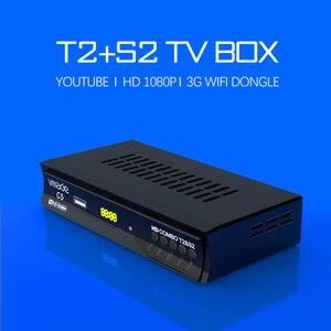Image 3 - DVB T2 DVB S2 Combo TV Tuner avec USB WIFI HD 1080P numérique Satellite TV récepteur prise en charge Youtube Bisskey M3U terrestre TV Box,Récepteur DVB T DVB S 2 en 1 entièrement H.264 MPEG 2/4