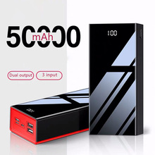 Real power bank 50000mah mirror LED display Portable Poverba