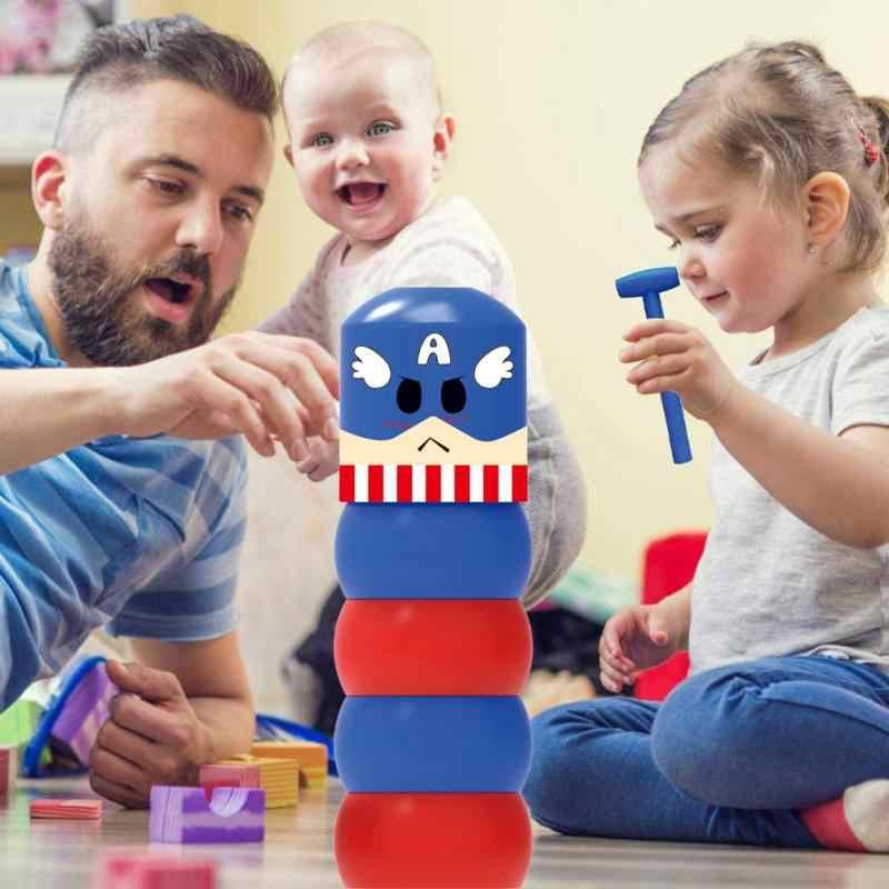 1 conjunto de tumbler imóvel magia teimoso imortal homem de madeira brinquedo truques de magia close-up palco magia acessórios engraçado inquebrável brinquedo