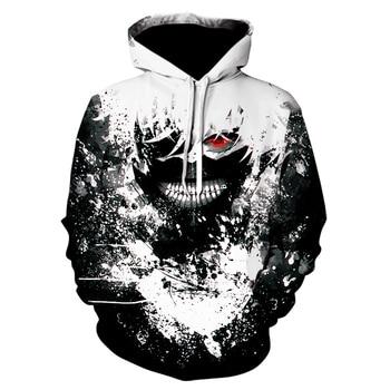 Tokyo Ghoul 3d Hoodies 2020 New Design Mens Hoodies Sweatshirts Tokyo Ghoul Hip Hop Anime Hoodie Men Casual Funny Black top 1