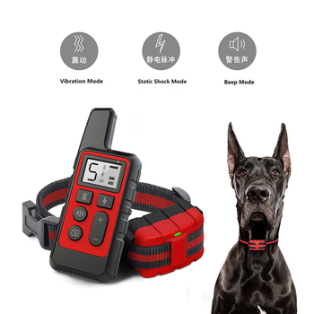 Dog Training Collar 500M Electric Shock sound Anti-Bark Remote Waterproof usb Rechargeable LCD dogs training adjustable PO045