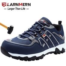 LARNMERN גברים פלדת הבוהן בטיחות נעלי SRC החלקה עבודה הגנת אבטחה הנעלה לנשימה עמיד טיולים Sneaker
