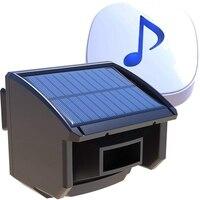 Yeni güneş Driveway Alarm sistemi 1/4 mil uzun İletim aralığı güneş enerjili gerek yok piller değiştirin  açık hava Mo