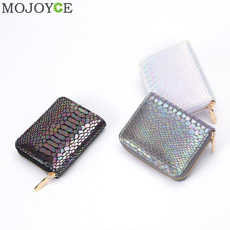 Fashion PU Leather Clutch Women Short Coin Purse Serpentine Money Bag Zipper Wallet Card Holder