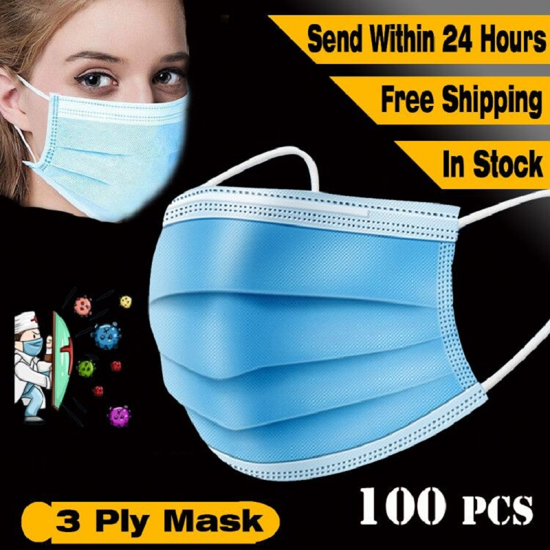 3 Layer Surgical Medical Mask Dust Protection Masks Disposable Face Masks Disposable Dust Filter Safety Anti-Virus Mask