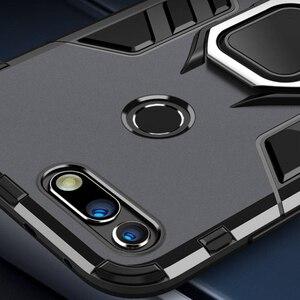 Für Honor Ansicht 20 Fall Rüstung PC Abdeckung Finger Ring Halter Telefon Fall Für Huawei Ehre View20 V20 Fall Langlebig stoßfest Stoßstange